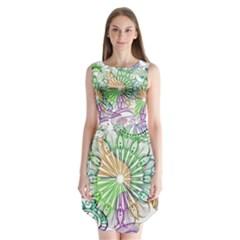 Zentangle Mix 1116c Sleeveless Chiffon Dress