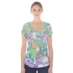 Zentangle Mix 1116c Short Sleeve Front Detail Top