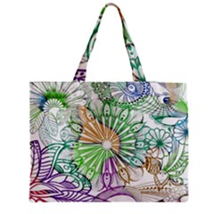 Zentangle Mix 1116c Medium Tote Bag