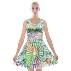 Zentangle Mix 1116c Velvet Skater Dress