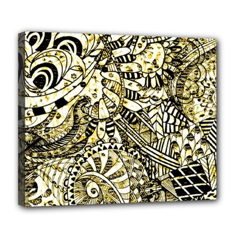 Zentangle Mix 1216a Deluxe Canvas 24  x 20