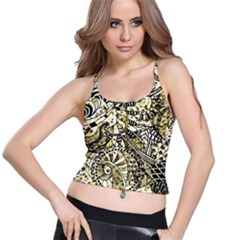 Zentangle Mix 1216a Spaghetti Strap Bra Top