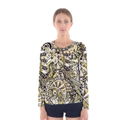 Zentangle Mix 1216a Women s Long Sleeve Tee