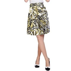 Zentangle Mix 1216a A-Line Skirt