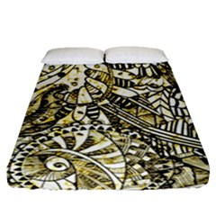 Zentangle Mix 1216a Fitted Sheet (Queen Size)