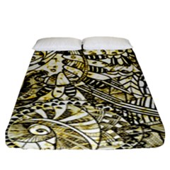 Zentangle Mix 1216a Fitted Sheet (King Size)