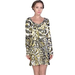 Zentangle Mix 1216a Long Sleeve Nightdress
