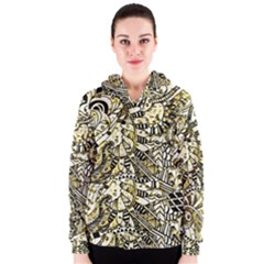 Zentangle Mix 1216a Women s Zipper Hoodie