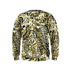 Zentangle Mix 1216a Kids  Sweatshirt