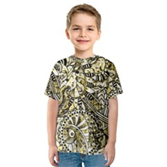 Zentangle Mix 1216a Kids  Sport Mesh Tee