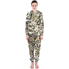Zentangle Mix 1216a Hooded Jumpsuit (Ladies)