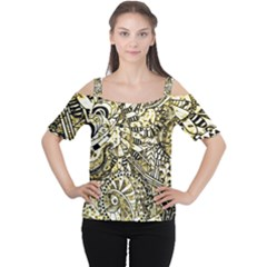 Zentangle Mix 1216a Women s Cutout Shoulder Tee