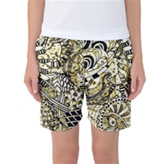 Zentangle Mix 1216a Women s Basketball Shorts