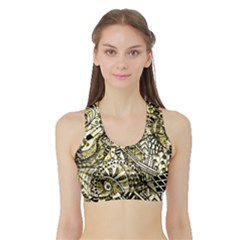 Zentangle Mix 1216a Sports Bra with Border