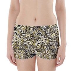Zentangle Mix 1216a Boyleg Bikini Wrap Bottoms