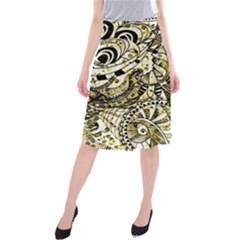 Zentangle Mix 1216a Midi Beach Skirt