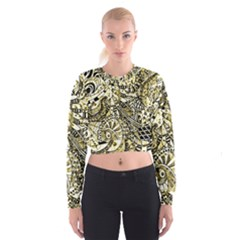 Zentangle Mix 1216a Women s Cropped Sweatshirt