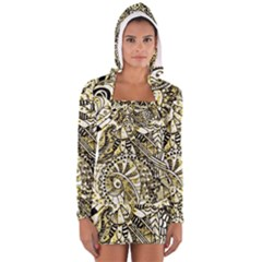 Zentangle Mix 1216a Women s Long Sleeve Hooded T-shirt