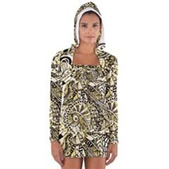 Zentangle Mix 1216a Women s Long Sleeve Hooded T-shirt
