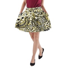 Zentangle Mix 1216a A-Line Pocket Skirt