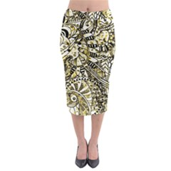 Zentangle Mix 1216a Midi Pencil Skirt