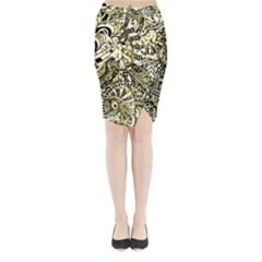 Zentangle Mix 1216a Midi Wrap Pencil Skirt