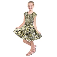 Zentangle Mix 1216a Kids  Short Sleeve Dress