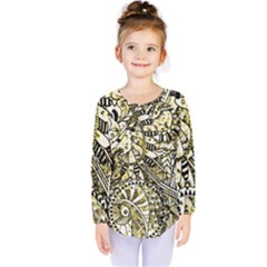 Zentangle Mix 1216a Kids  Long Sleeve Tee
