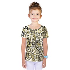 Zentangle Mix 1216a Kids  One Piece Tee