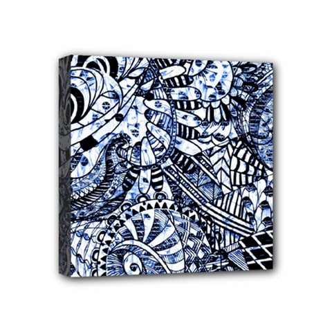 Zentangle Mix 1216b Mini Canvas 4  x 4