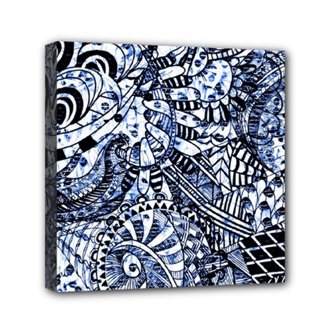Zentangle Mix 1216b Mini Canvas 6  x 6