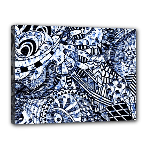 Zentangle Mix 1216b Canvas 16  x 12