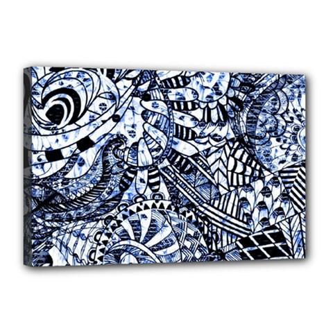 Zentangle Mix 1216b Canvas 18  x 12