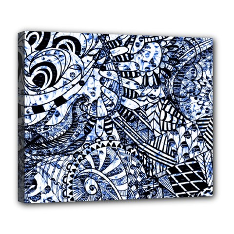 Zentangle Mix 1216b Deluxe Canvas 24  x 20