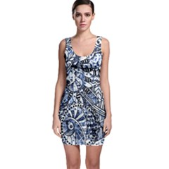 Zentangle Mix 1216b Sleeveless Bodycon Dress