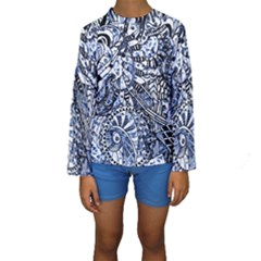 Zentangle Mix 1216b Kids  Long Sleeve Swimwear