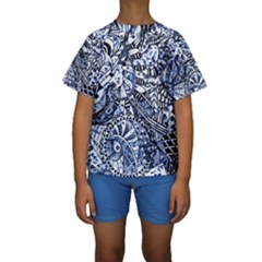 Zentangle Mix 1216b Kids  Short Sleeve Swimwear