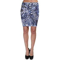 Zentangle Mix 1216b Bodycon Skirt
