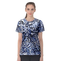 Zentangle Mix 1216b Women s Sport Mesh Tee