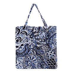 Zentangle Mix 1216b Grocery Tote Bag