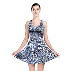 Zentangle Mix 1216b Reversible Skater Dress