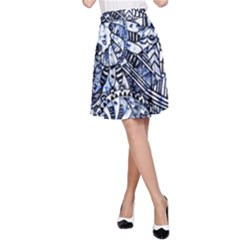 Zentangle Mix 1216b A-Line Skirt