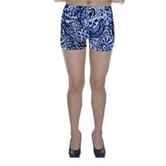 Zentangle Mix 1216b Skinny Shorts