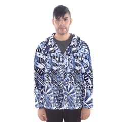 Zentangle Mix 1216b Hooded Wind Breaker (Men)