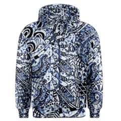 Zentangle Mix 1216b Men s Zipper Hoodie