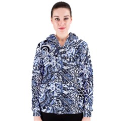 Zentangle Mix 1216b Women s Zipper Hoodie