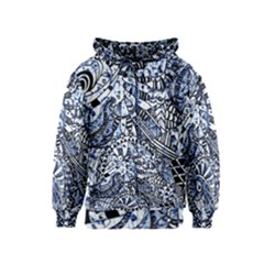 Zentangle Mix 1216b Kids  Zipper Hoodie