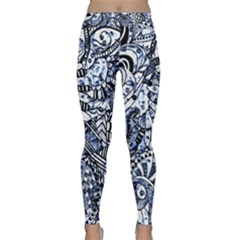 Zentangle Mix 1216b Classic Yoga Leggings