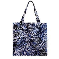 Zentangle Mix 1216b Zipper Grocery Tote Bag