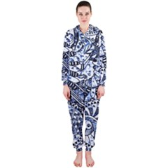 Zentangle Mix 1216b Hooded Jumpsuit (Ladies)